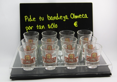 Display Bandeja chupitos Olmeca